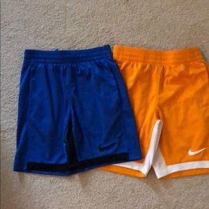 Bundle of Boys Nike shorts.  Size S